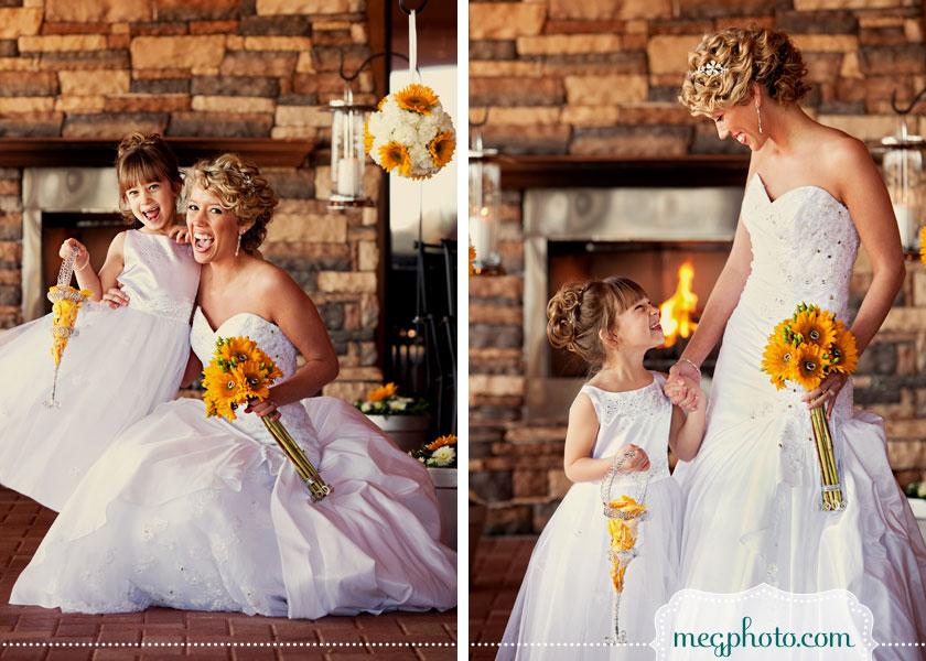 Fun and sunflowers wedding aislinn events flower girl with sunflowers mightylinksfo