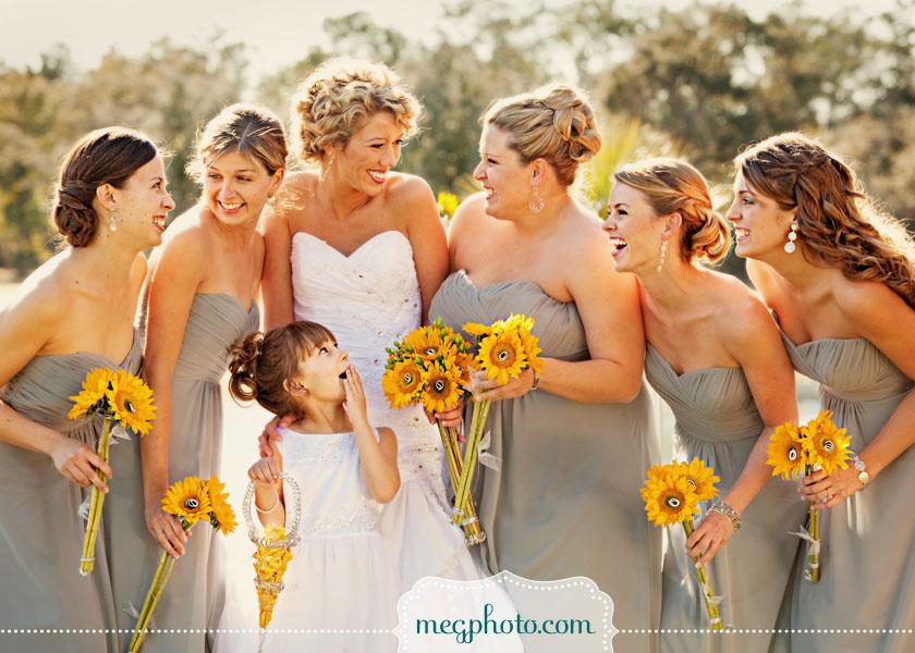 Fun And Sunflowers Wedding