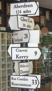 Wedding Signs irish road signs