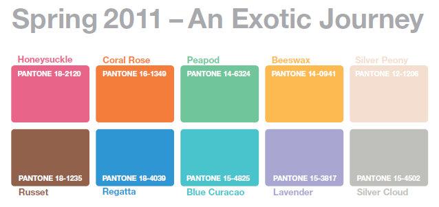 Lovely Pantone Color Trends 2011 Design