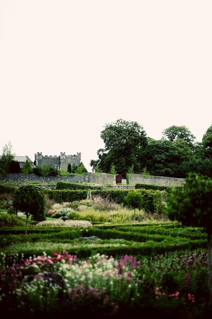Walled castle garden Ireland