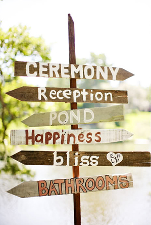 craft hand painted Wedding Signs