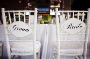 groom and bride Wedding Signs