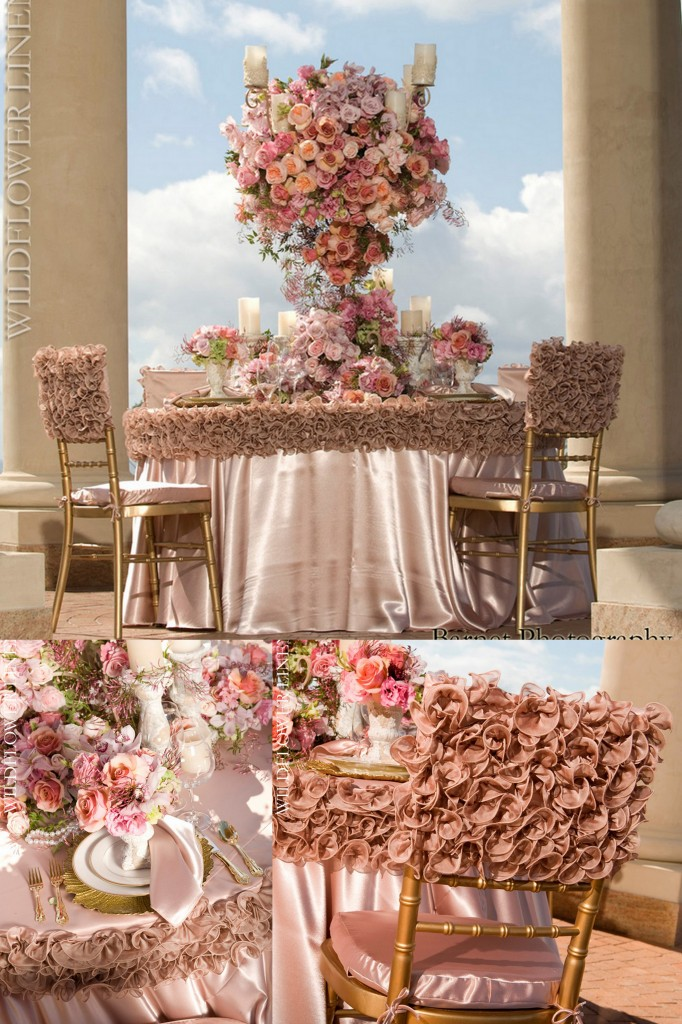 luxury linens table and chairs coverings
