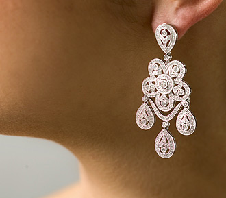 Real Bling drop tears style earing