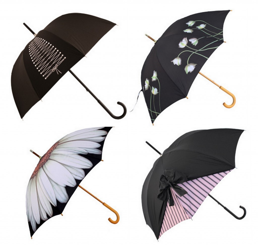 Rainy Day Weddings cool brollys with different designs