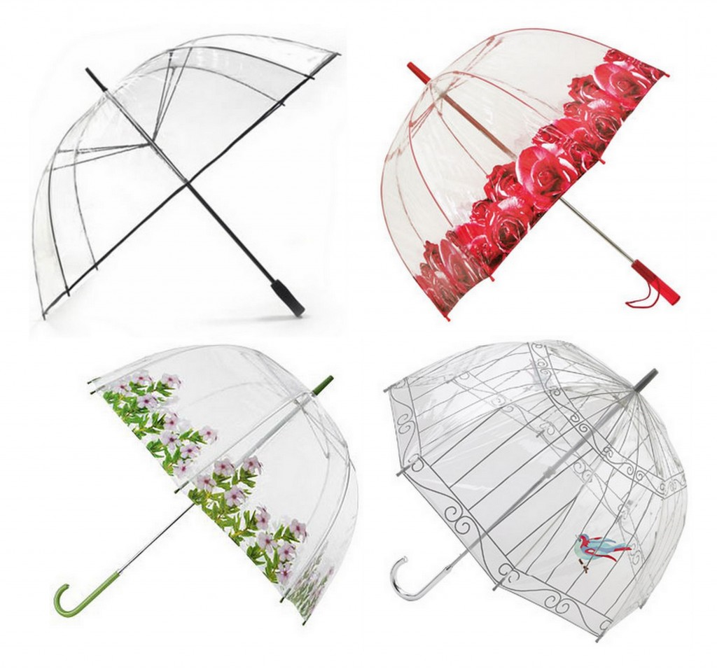 Rainy Day Weddings clear brollies great for photos