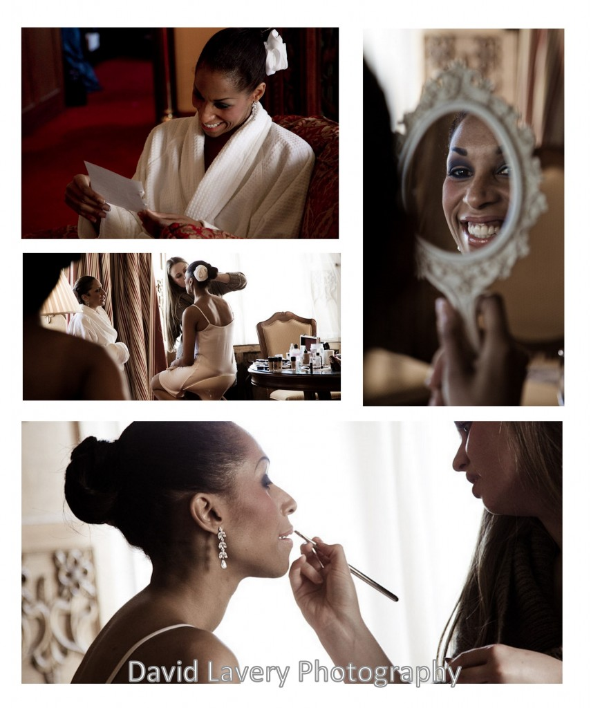 bride getting ready for big day