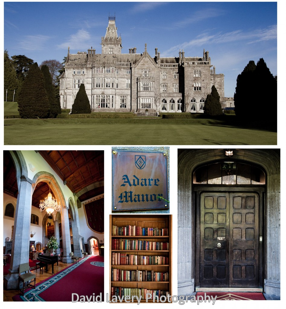 winter castle wedding collage pictures of adare manor