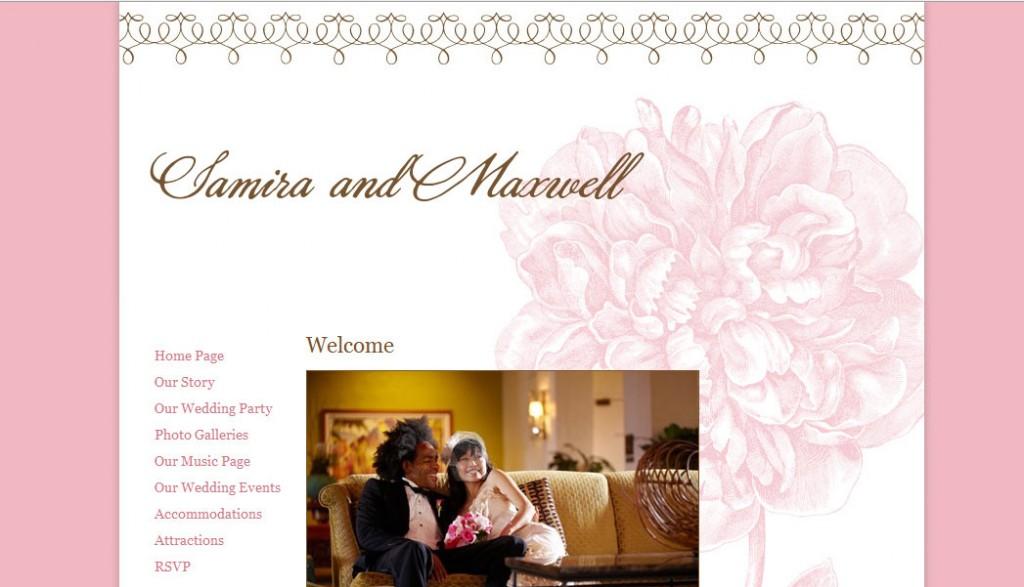 Personal Wedding Websites