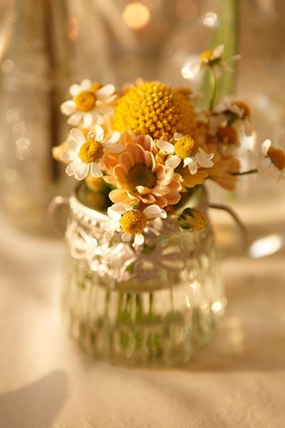 Alternative Wedding flowers in a bowl