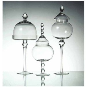 Apothecary Jars glass and fancy