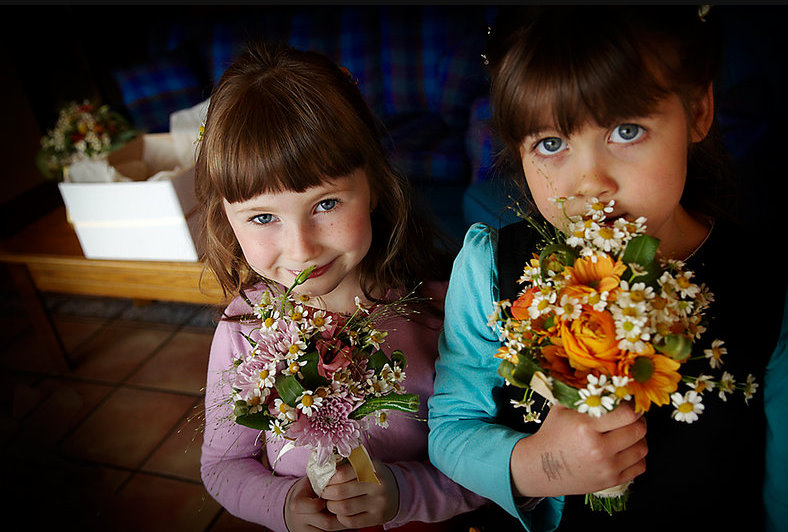 Alternative Wedding flower girls