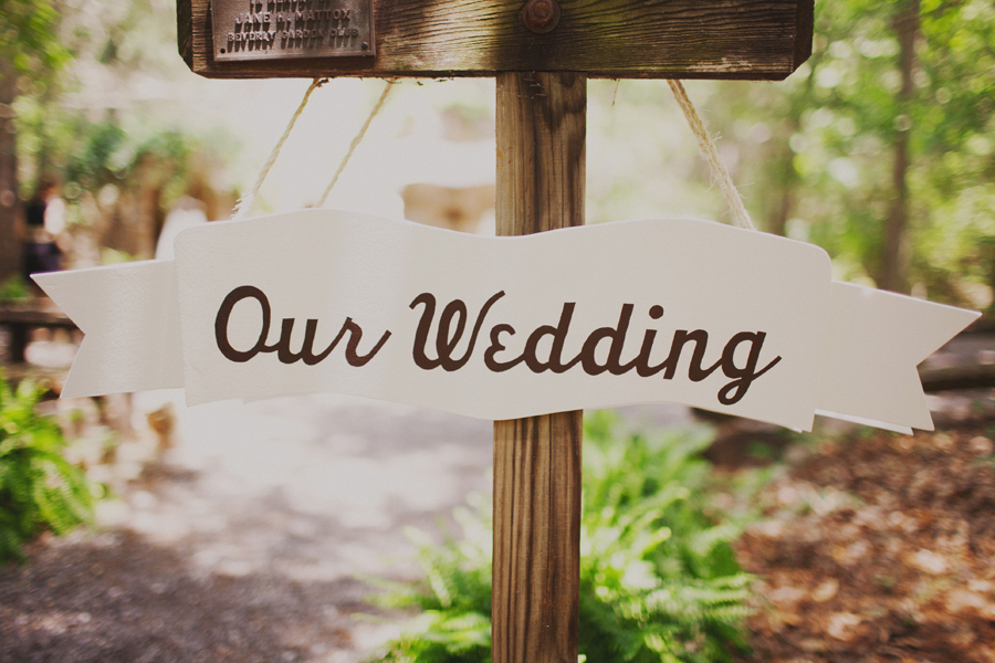 Summer Camp rustic wedding sign