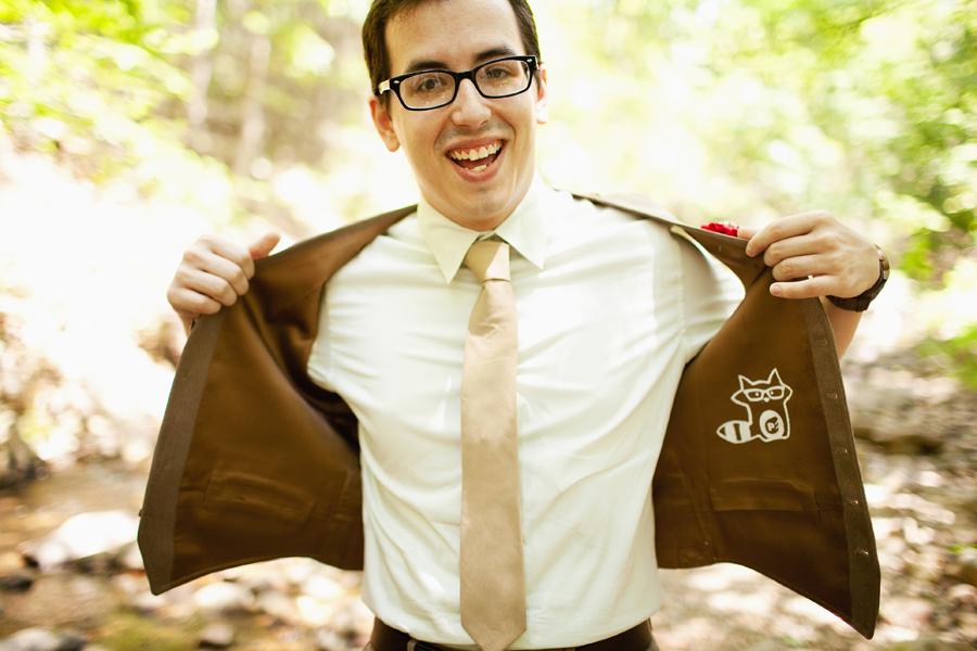 Summer Camp  mongramed vest coat opened