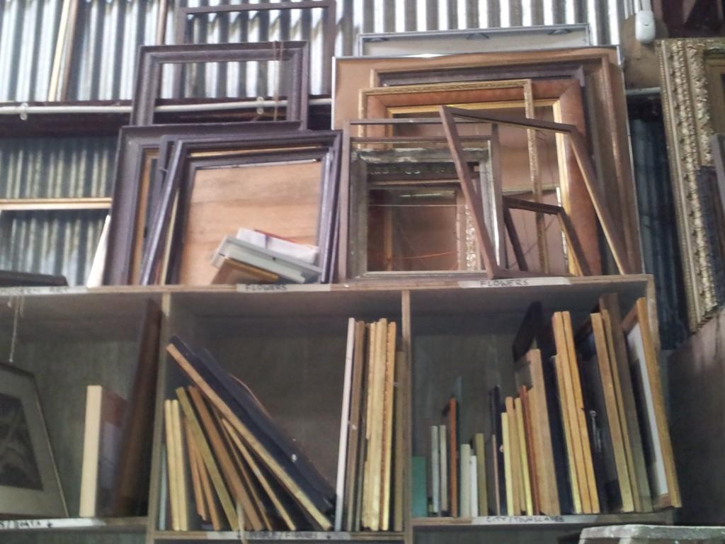 Vintage Furniture Rentals storage shelves