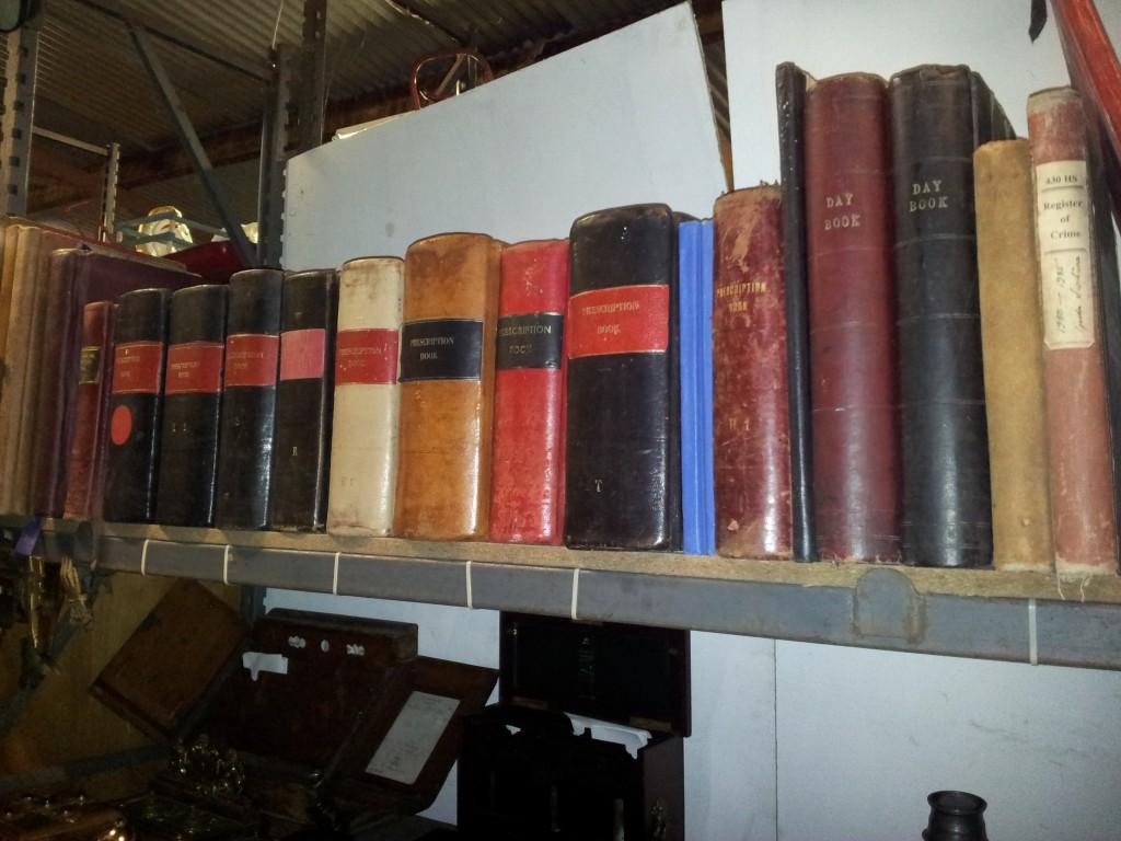 Vintage Furniture Rentals old book shelf