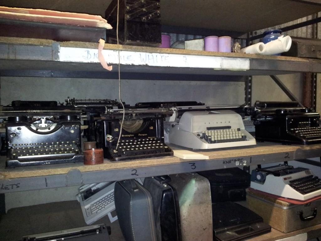 Vintage Furniture Rentals old rusty typewriters