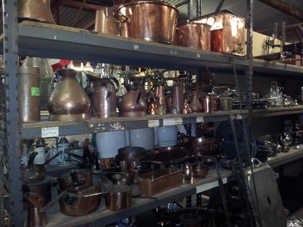 Vintage Furniture Rentals old copper pots and urns