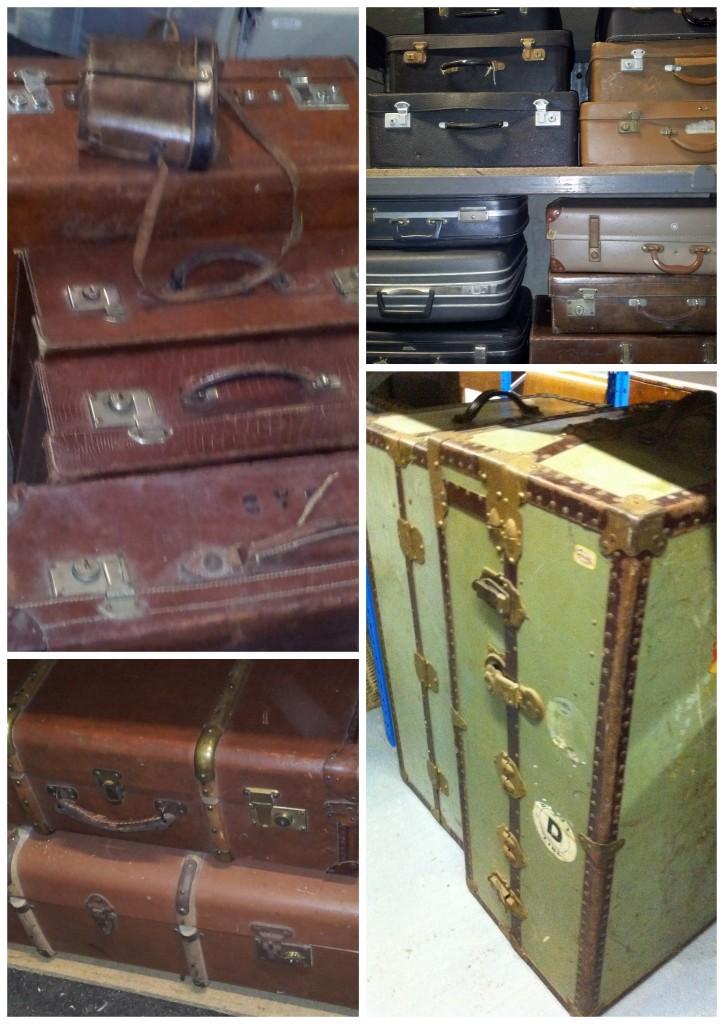 Vintage Furniture Rentals old suitcases collage