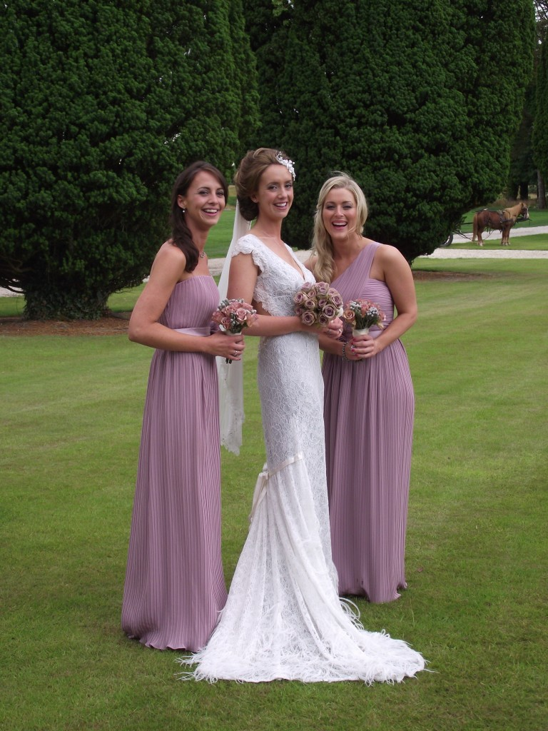 Elegant Affair and the bride with bridesmaids