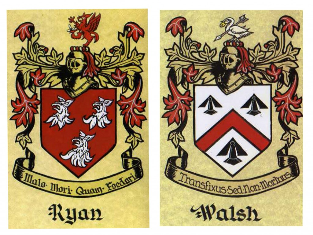 intimate Kinsale wedding coat of arms