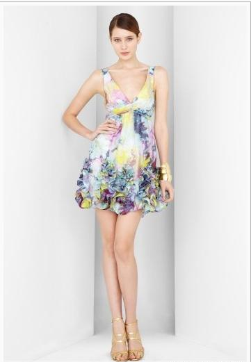 Watercolor Style mini dress