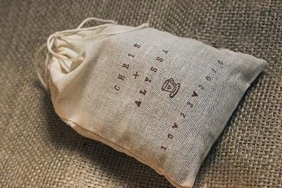 Edible Wedding Favors coffee bags