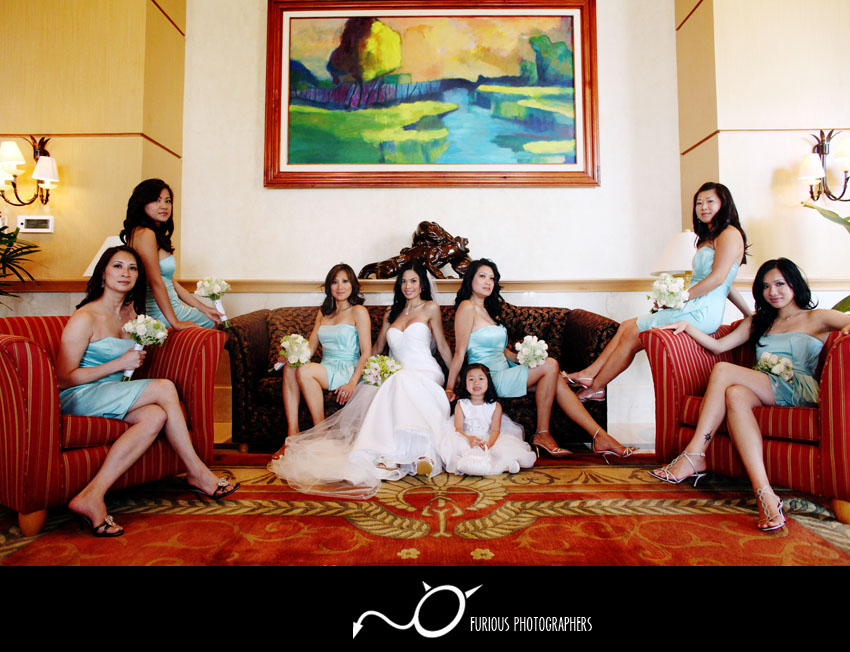 Out of Your Comfort Zone bridal party casual photograph