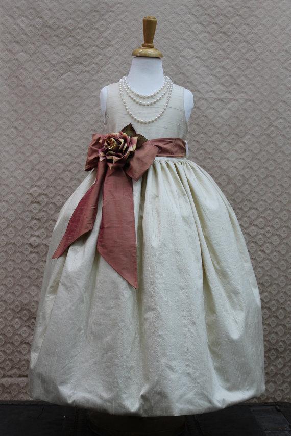vintage elegance flower girl dress