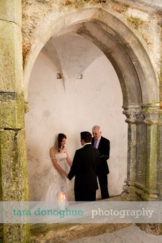 an Intimate Weddings moment with the couple and celebrant
