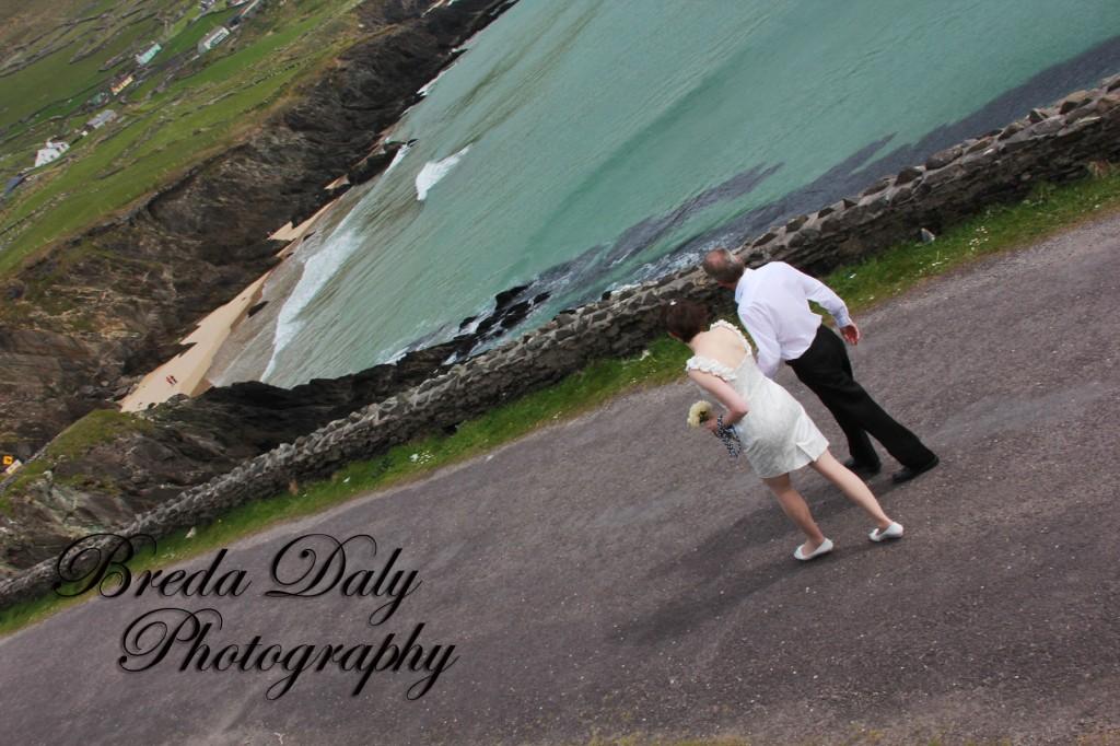 Most Intimate Wedding walking dingle peninsula.