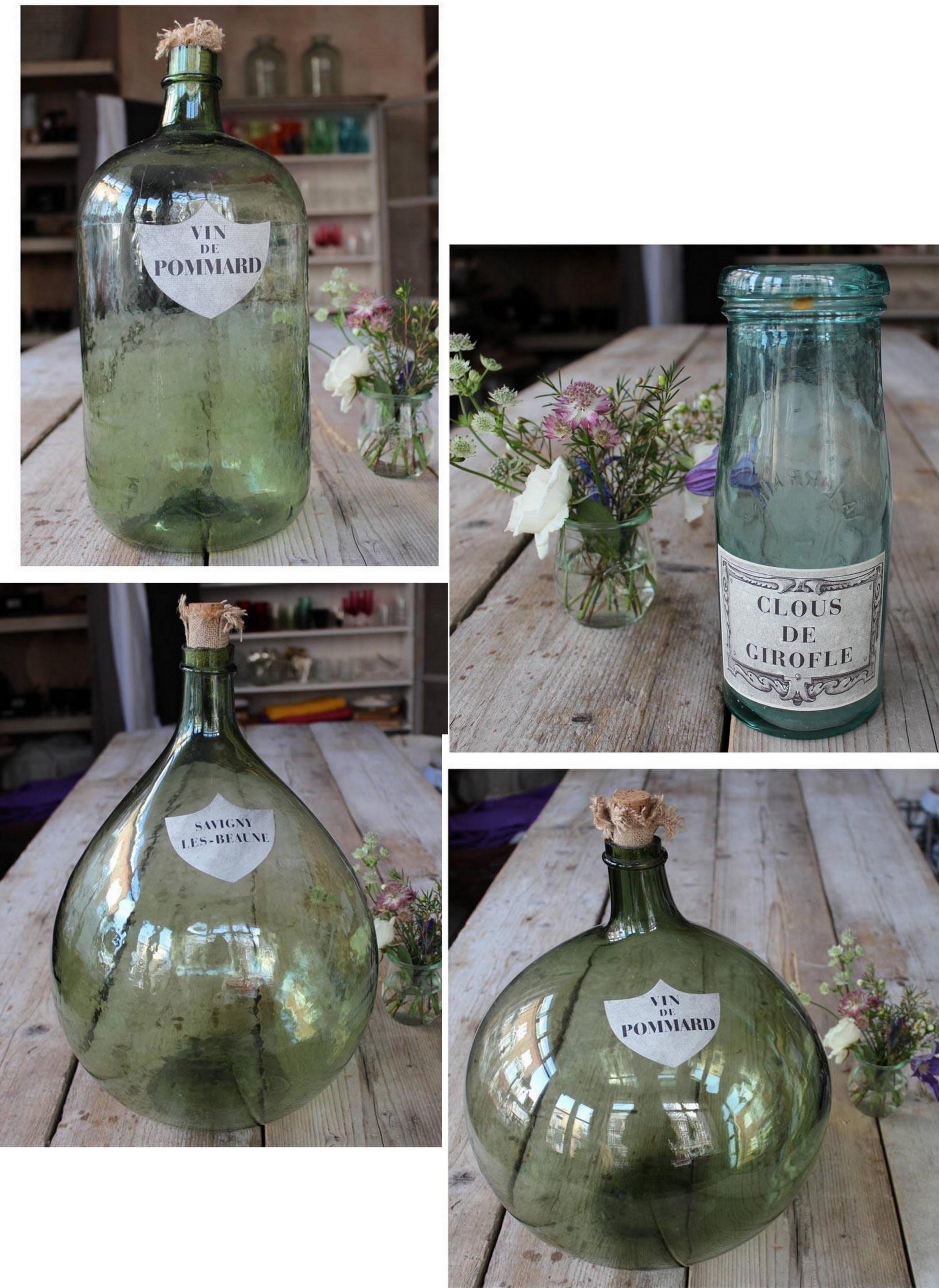 Bonbonnes Bottles all shapes and sizes