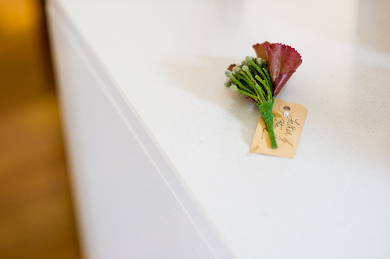 Beautiful and Intimate-Farrah and Paul a boutonniere