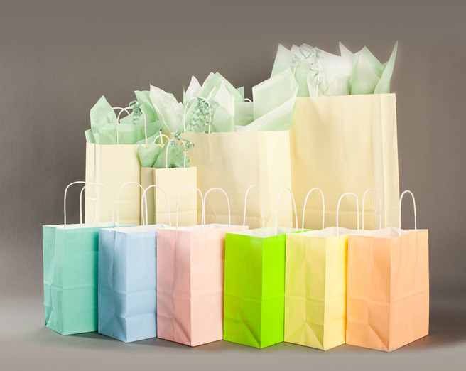 pretty packaging pastel paper bags