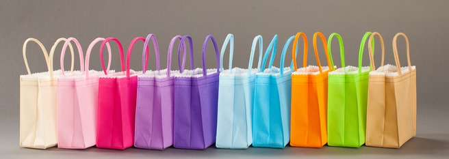 pretty packaging colored bags