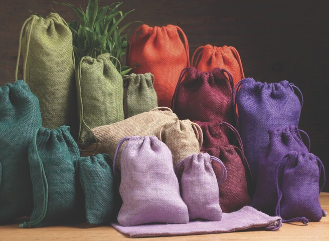 pretty packaging colored sacks