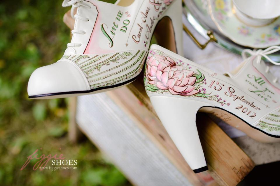 Figgies Wedding Shoes hand painted shoes