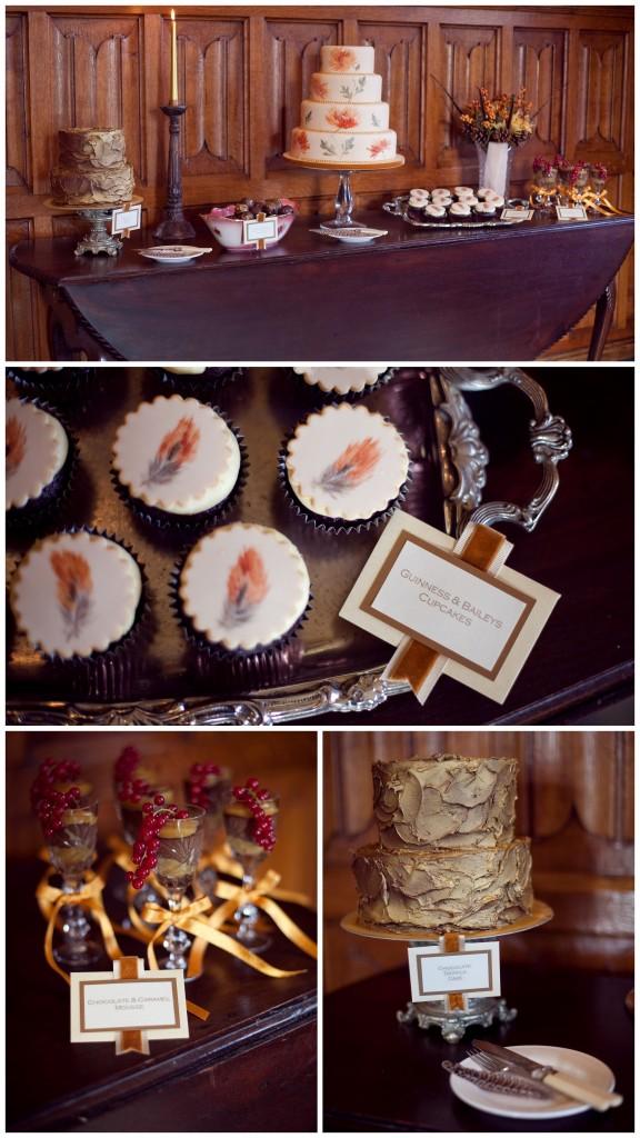Autumnal Wedding cloud berry bakery cakes