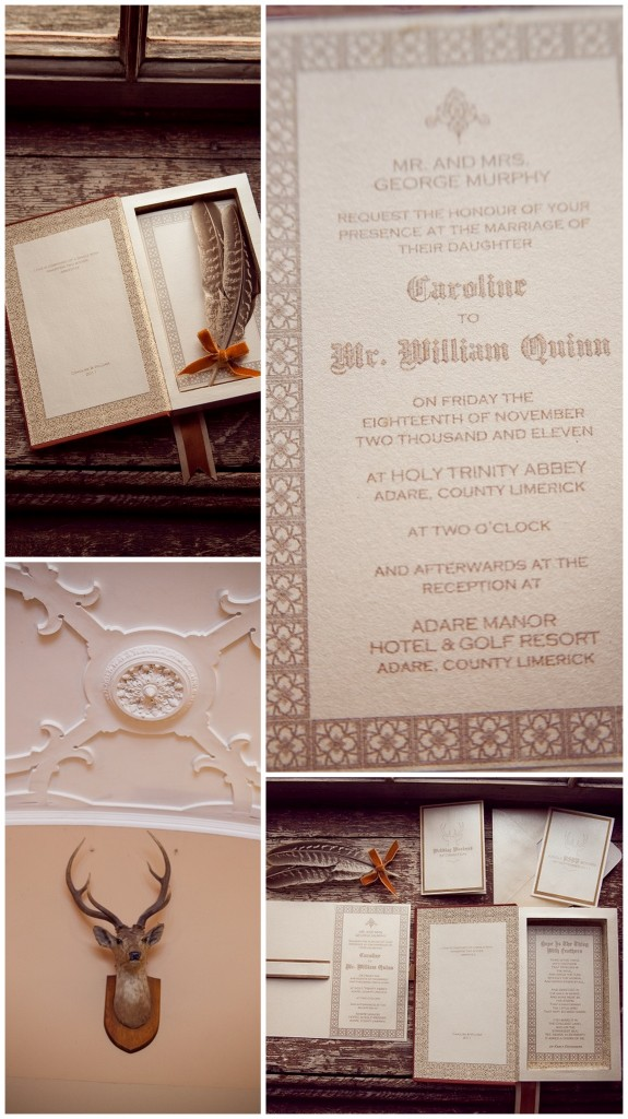 Autumnal Wedding with old letters