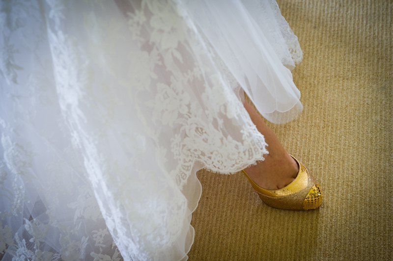 manor house brides gold shoes