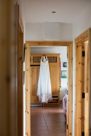 Castle and a Céilí brides wedding dress Castle and a Ceili