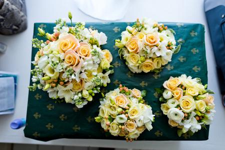 Castles and California flower arrangement
