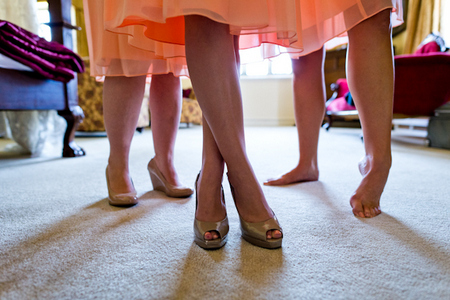 castles and California brides maids feet and legs