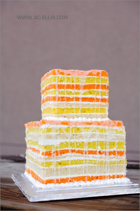 naked cakes orange cake with dripping icing