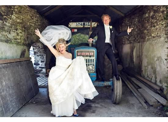 on a tractor to get marries in  ireland