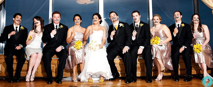 Bridal Party Roles group of people with carnival mask