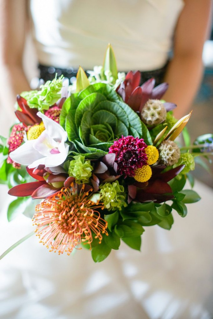 colorful cabbage floer bouquet flower trends