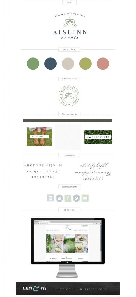 Aislinn Events wedding rebrand