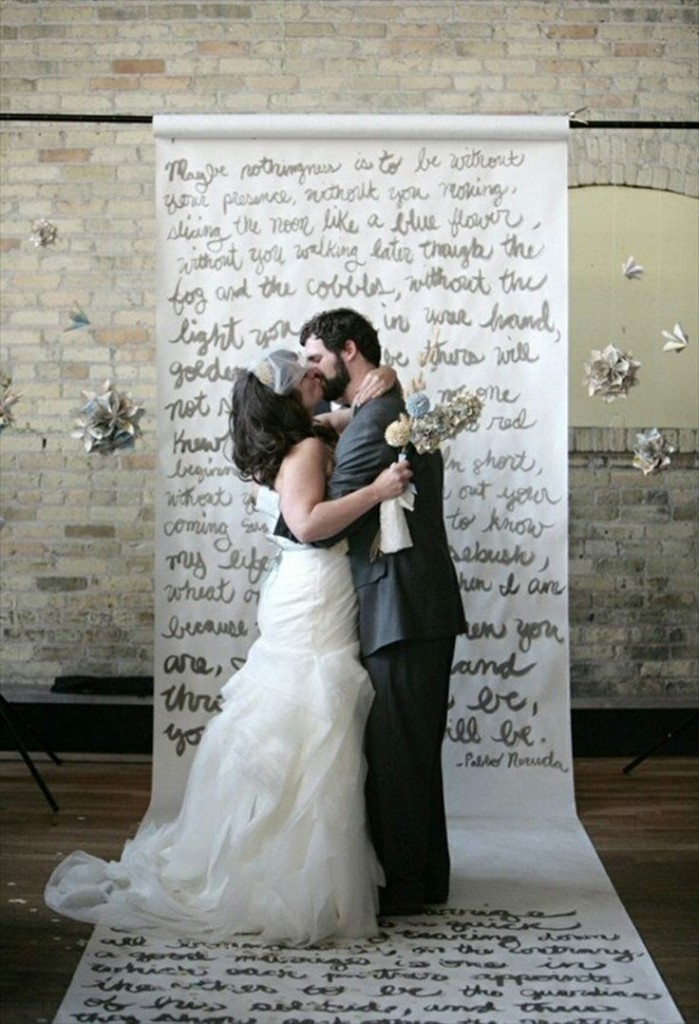 i love you wedding ceremony backdrop